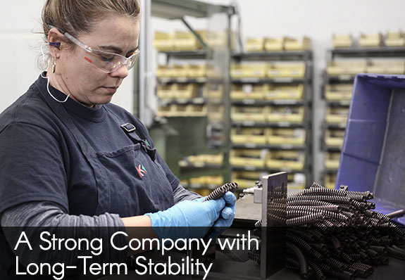 a strong company with long-term job stability